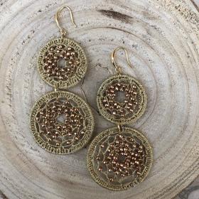 Crystal Beads Deli náušnice zlaté