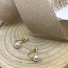 Náušnice obojstranné s bielymi perlami a zirkónmi