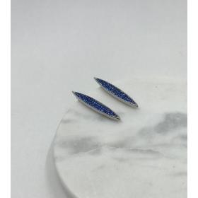 Náušnice Lena mini bledomodré s drobným Swarovski krištáľom