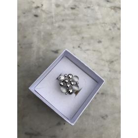 Prsteň Léna strieborná s mesačným kameňom na elastickej gumičke