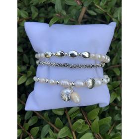 Set z náramkov z pravých riečnych perál 85