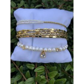 Set z náramkov z pravých riečnych perál 89