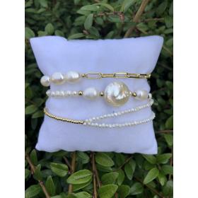 Set z náramkov z pravých riečnych perál 91